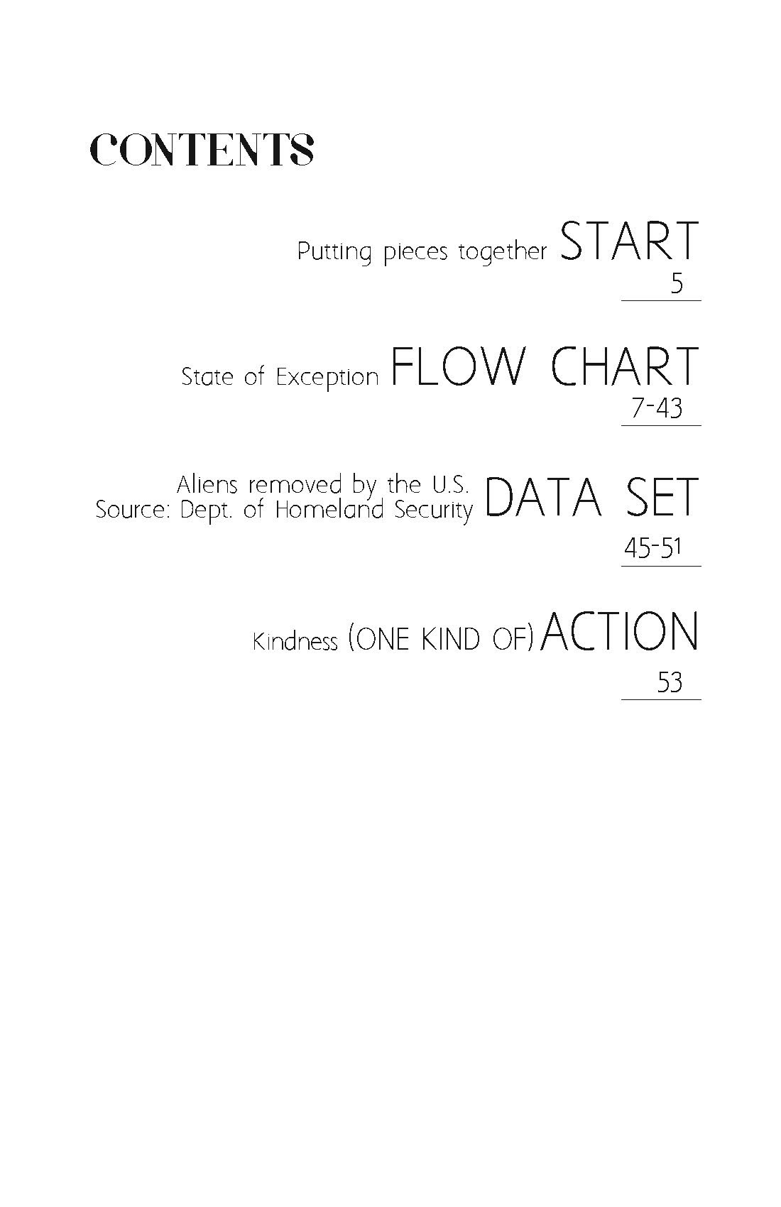 Patterns of Action Issue 3 table of contents
