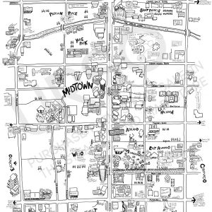 Phoenix Midtown Map for sale