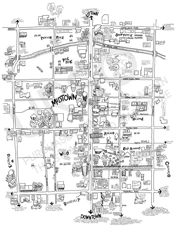 Phoenix Midtown Map for sale